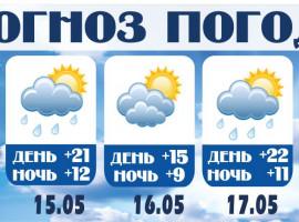ПОГОДА С 13.05 ПО 19.05