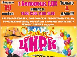 Омский цирк «Омич и К» приглашает на представление.