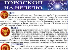 Гороскоп на неделю с 31.08. по 06.09 2020г.