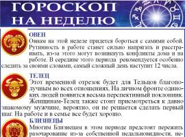 Гороскоп на неделю с 09 по 15 ноября