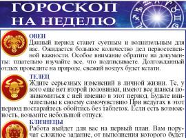 Гороскоп на неделю с 14 по 20 июня 2021